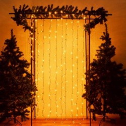 Tenda luminosa Natale a cascata led per esterno