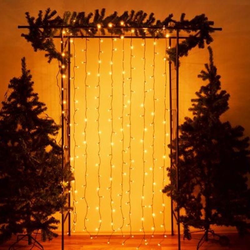 Tende Luminose Da Esterno.Tenda Luminosa Di Natale Cascata Luci Led Per Esterno
