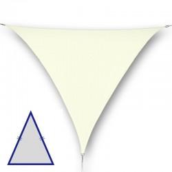 Vela triangolare isoscele da giardino in poliestere crema