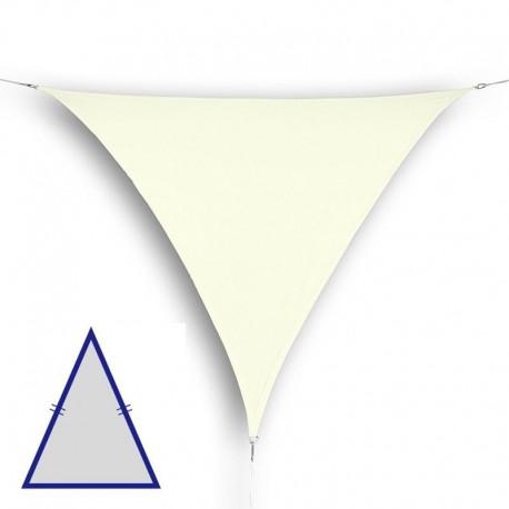Vela triangolare isoscele da giardino in HDPE crema