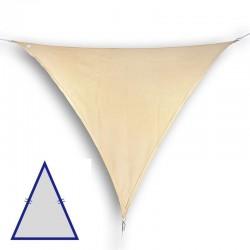 Vela triangolare isoscele da giardino in HDPE beige