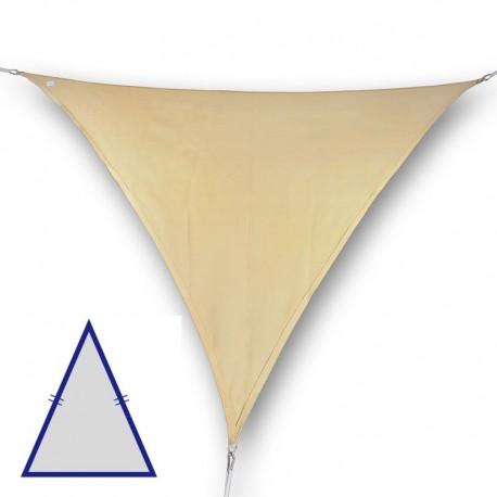 Vela triangolare isoscele da giardino in poliestere beige