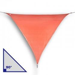 Vela triangolare con angolo di 90° in HDPE terracotta
