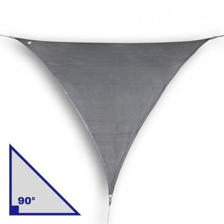 Vela triangolare con angolo di 90° in HDPE antracite