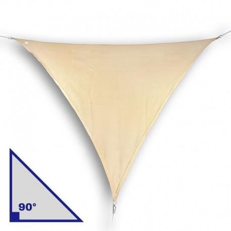 Vela triangolare con angolo di 90° in HDPE beige