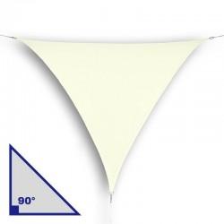 Vela triangolare con angolo di 90° in HDPE crema