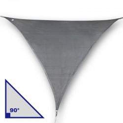 Vela triangolare con angolo di 90° in poliestere antracite