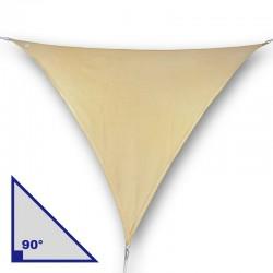 Vela triangolare con angolo di 90° in poliestere beige
