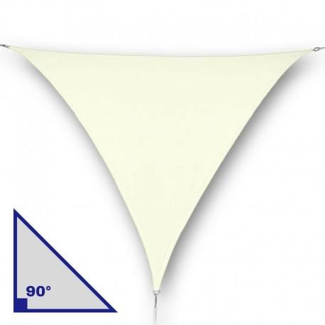 Vela triangolare con angolo di 90° in poliestere crema