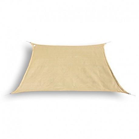 Tenda a vela trapezoidale da giardino in HDPE beige