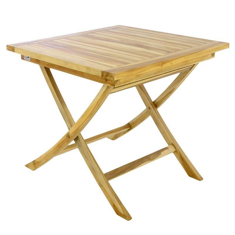 Tavolo Da Esterno In Legno Pieghevole.Tavolo In Legno Di Teak Da Esterno E Giardino Quadrato Pieghevole