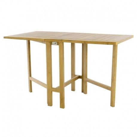 Tavolo in legno di teak da balcone rettangolare pieghevole