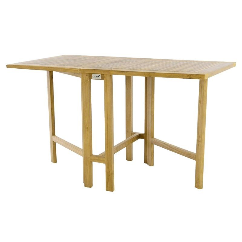 Tavoli Pieghevoli Per Balconi.Tavolo Da Balcone In Legno Di Teak Rettangolare Pieghevole