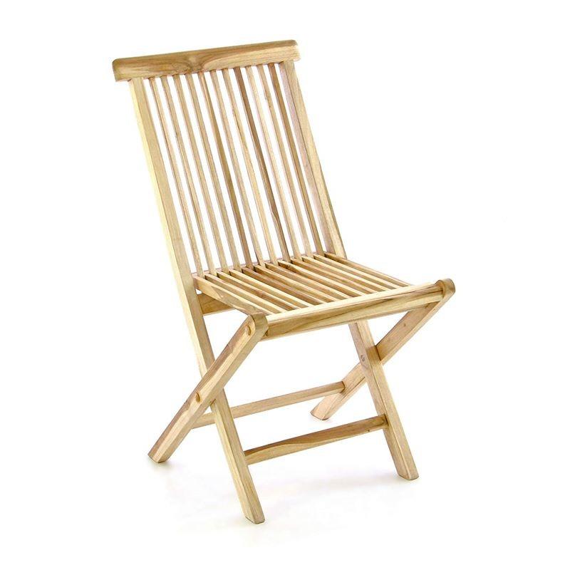 Tavolo e sedie in legno di teak da esterno per giardino e ...