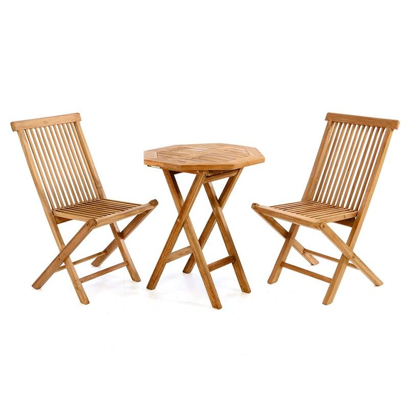 Sedie In Legno Giardino.Tavolo E Sedie In Legno Di Teak Da Esterno Per Giardino E Balcone