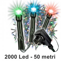 Catena 2000 minilucciole Led multicolor da 50 metri