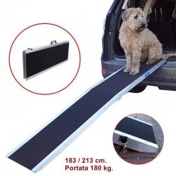 Rampa per cani pieghevole in alluminio