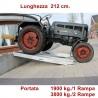 Rampa di carico professionale 212 cm. 19 quintali