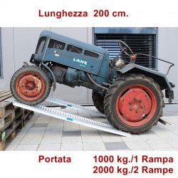 Rampa di carico professionale 200 cm. 10 quintali