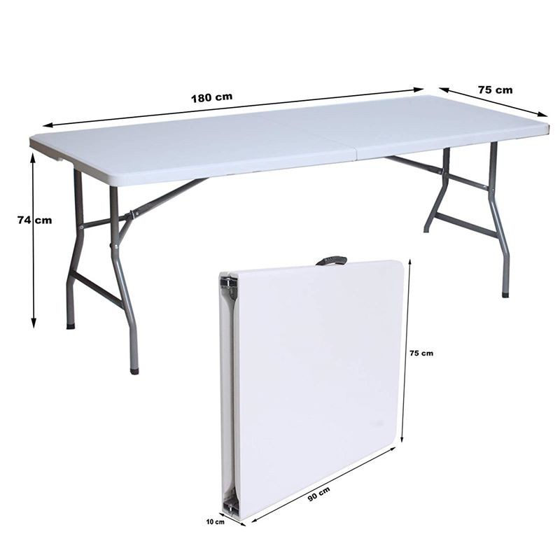 Tavolo con panche richiudibili da esterno per giardino o ...