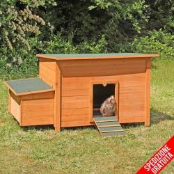 Casetta pollaio per galline da giardino in legno