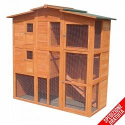Pollaio o conigliera in legno da esterno