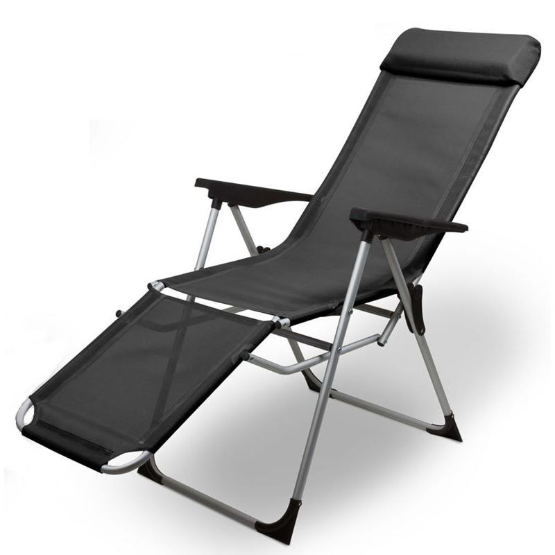 Sedie Sdraio Pieghevoli Alluminio.Sedia Sdraio Pieghevole Da Giardino In Alluminio Antracite