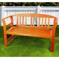 Panchina da giardino in legno a 2 posti vintage