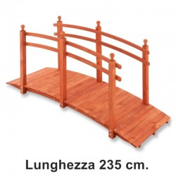 Ponticello in legno da giardino da 235 cm.