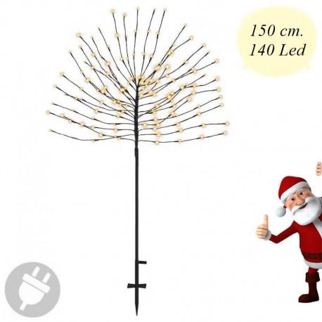 Alberello di Natale luminoso da esterno con 140 luci Led