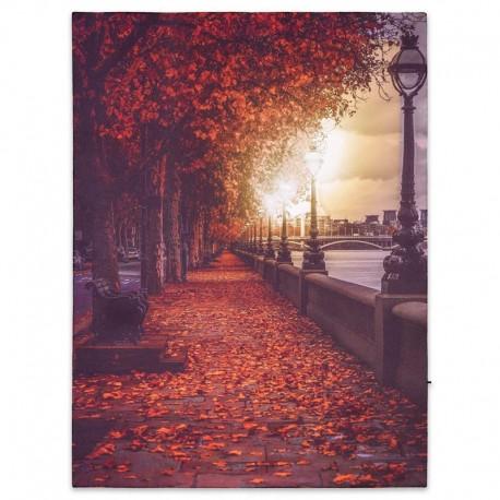 "Quadro luminoso led ""Promenade in autunno"""