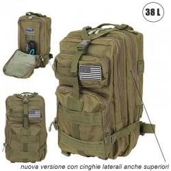 Zaino militare tattico 40 litri per trekking, bushcraft, campeggio