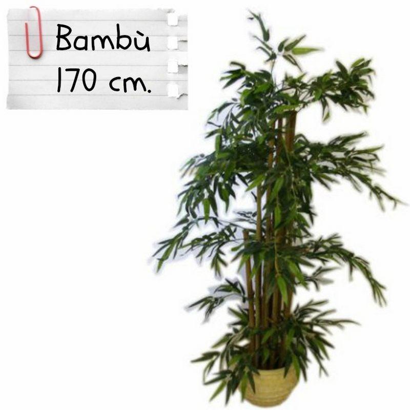 piante finte artificiali da arredo interno bamb 170 cm
