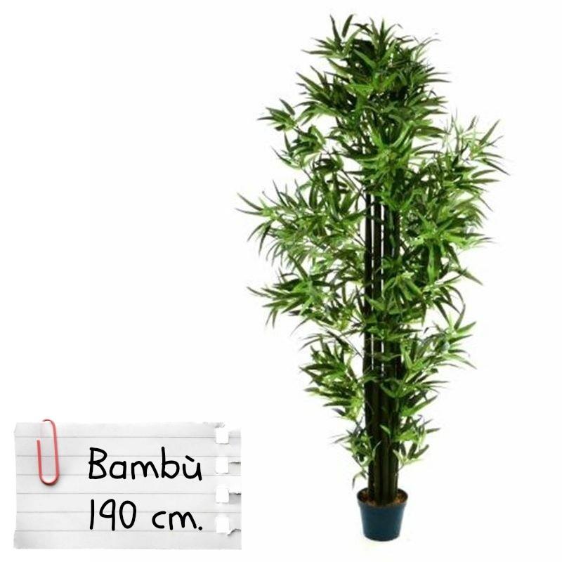 Piante finte artificiali da arredo interno bamb 190 cm for Pianta da esterno