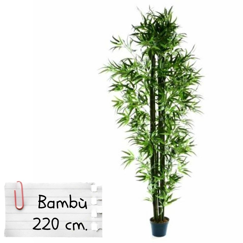 Piante finte artificiali da arredo interno bamb 220 cm for Bambu pianta