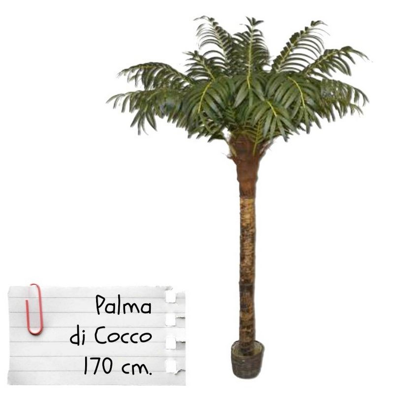 Piante finte artificiali da arredo interno palma da cocco for Accessori per laghetti artificiali