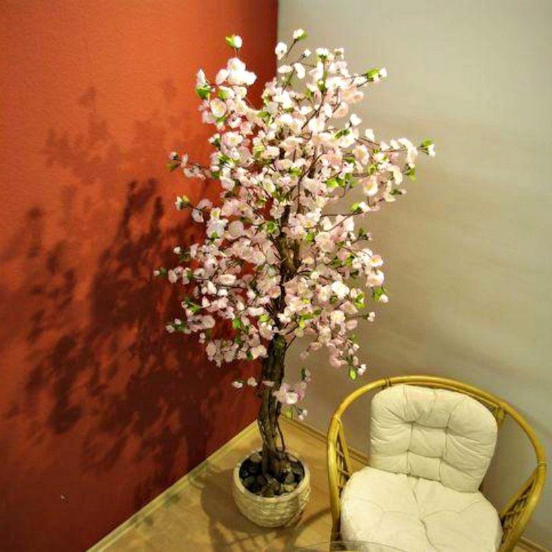 Piante finte artificiali da arredo interno ciliegio 180 cm - Lampade per piante da interno ...