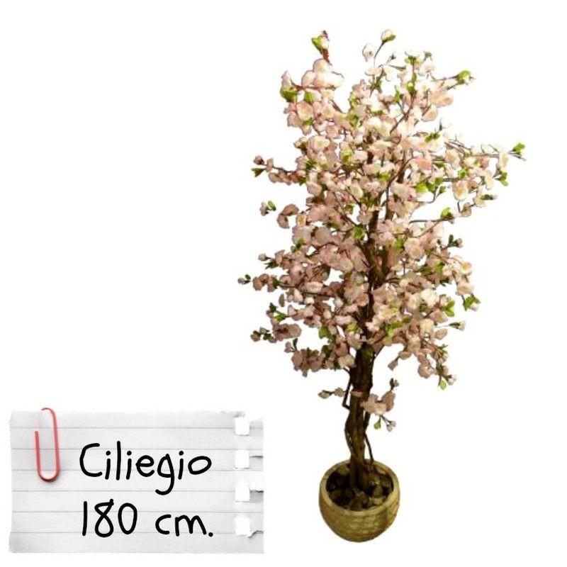 Piante finte artificiali da arredo interno ciliegio 180 cm for Piante finte da arredo
