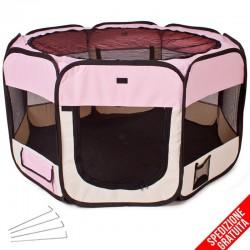 Recinto per cani e cuccioli da interno rosa