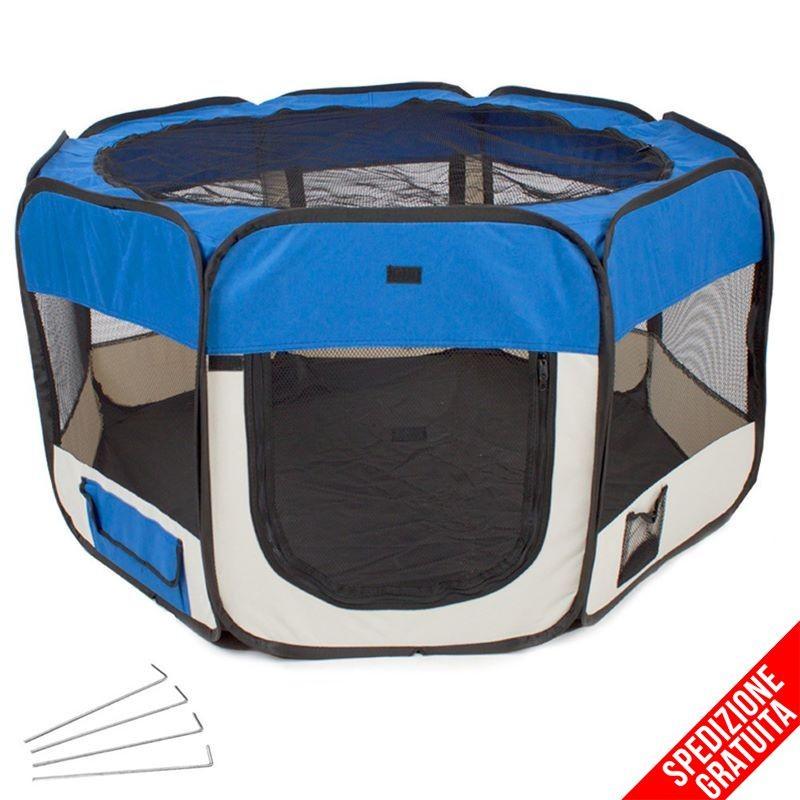 Recinto per cani da interno pieghevole e per cuccioli - Recinto mobile per cani ...