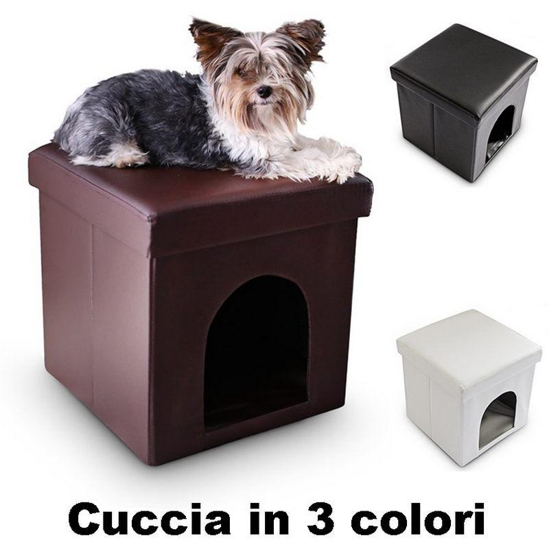 Cuccia per cani e gatti da interno in ecopelle for Cucce da interno per cani taglia grande