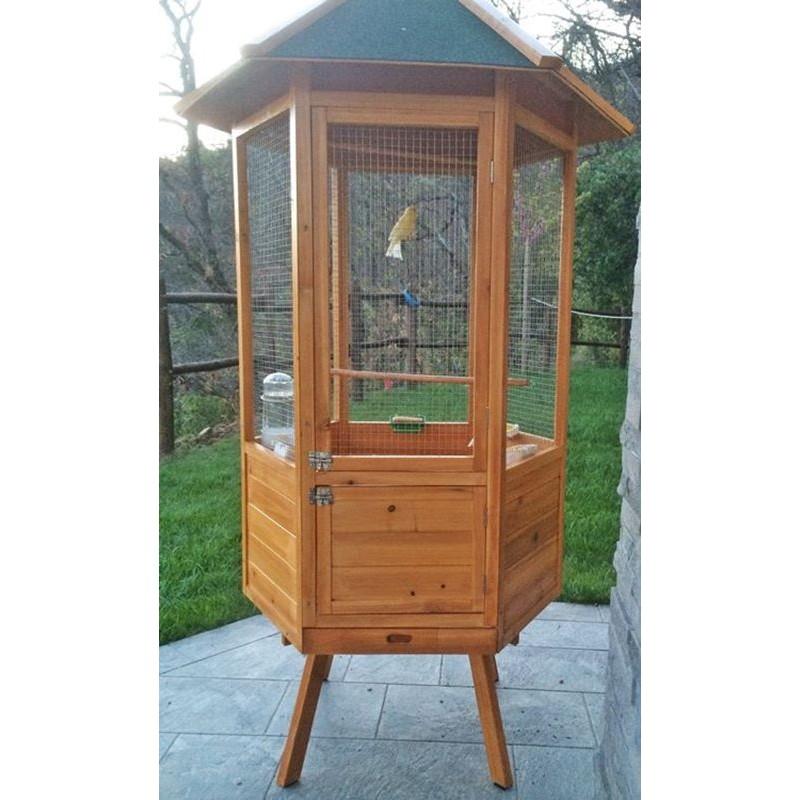 Voliera per pappagalli in legno da giardino - Legno per giardino ...