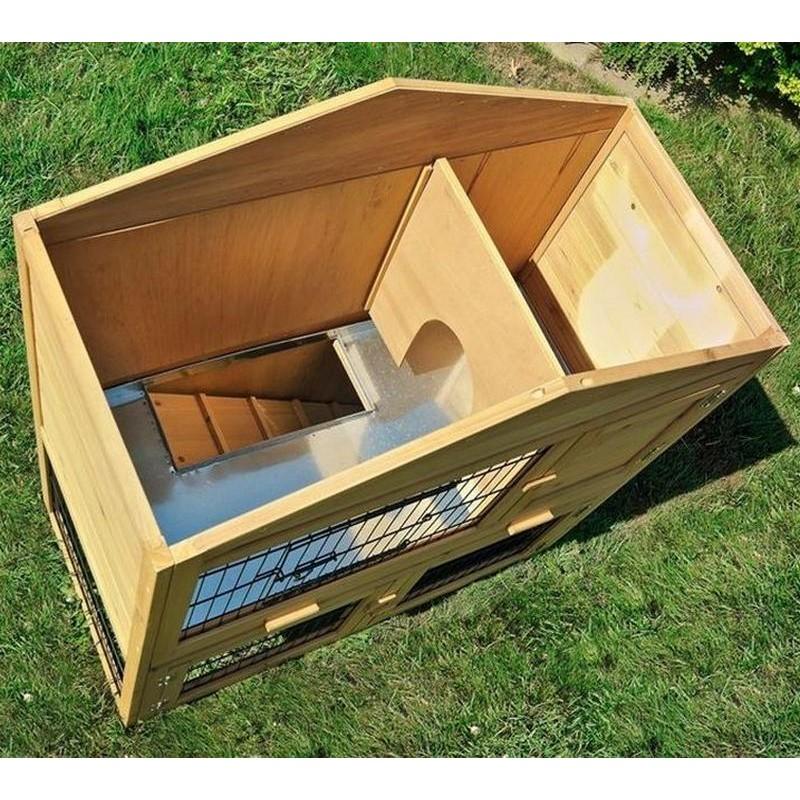 Gabbia per conigli nani in legno da esterno o interno for Box per cani da esterno usati