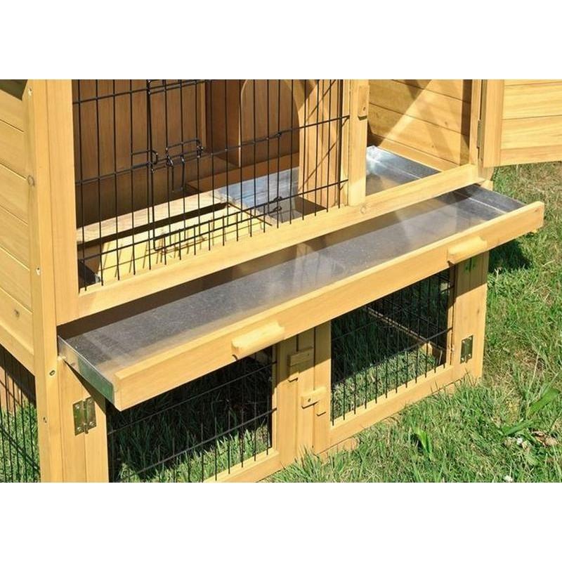 Gabbia per conigli nani in legno da esterno o interno for Casette per conigli fai da te
