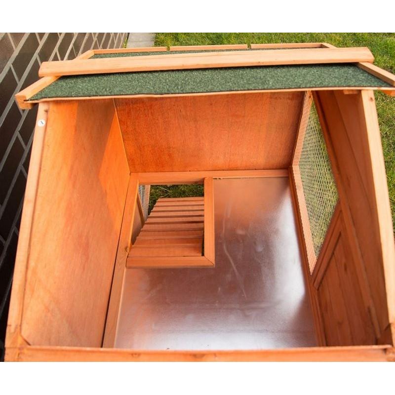 Conigliera da esterno in legno con recinto per giardino for Recinto in legno