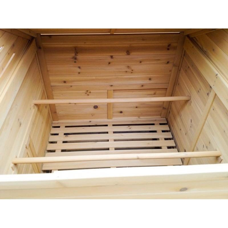 Pollaio per 6 8 galline ovaiole realizzato in legno da for Recinto giardino fai da te