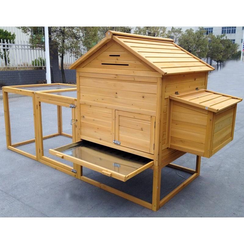 Pollaio per 6 8 galline ovaiole realizzato in legno da - Recinto fai da te ...