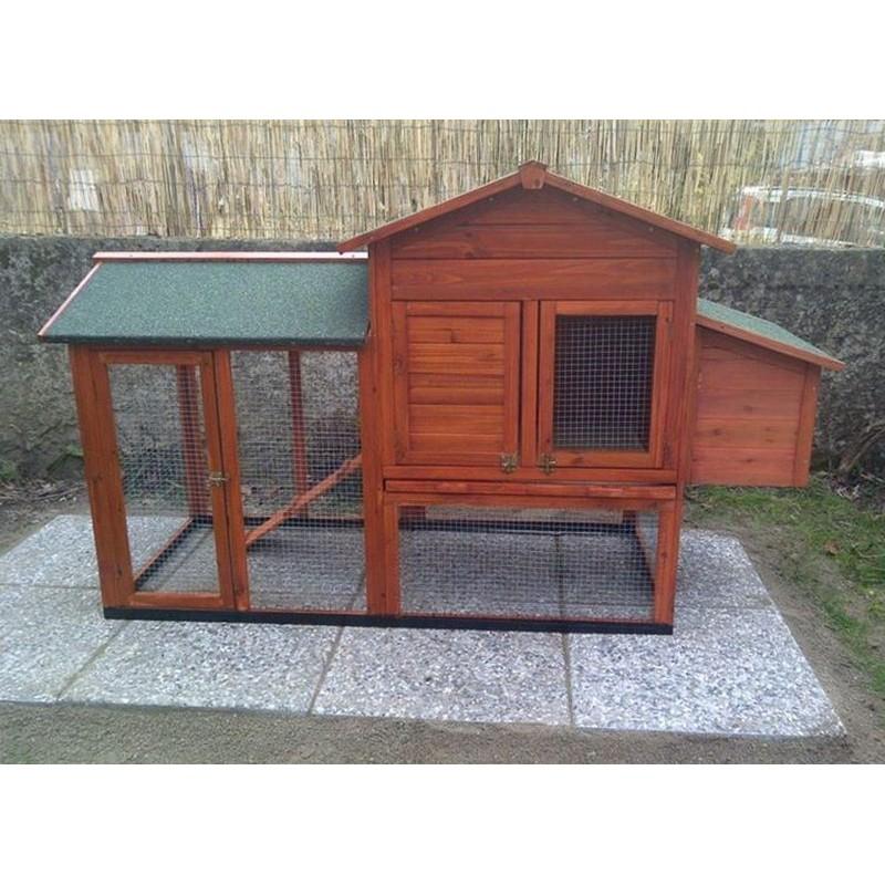 Pollaio in legno per 2 4 galline ovaiole ad uso domestico for Piani di ascensore domestico