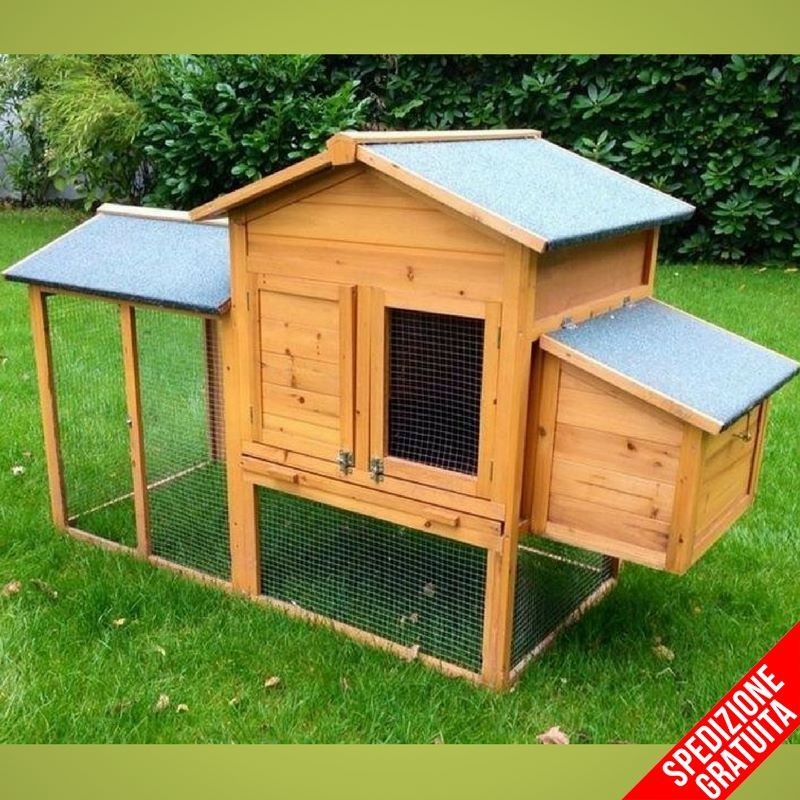 Pollaio in legno per 2 4 galline ovaiole ad uso domestico for Piani di fienile domestico