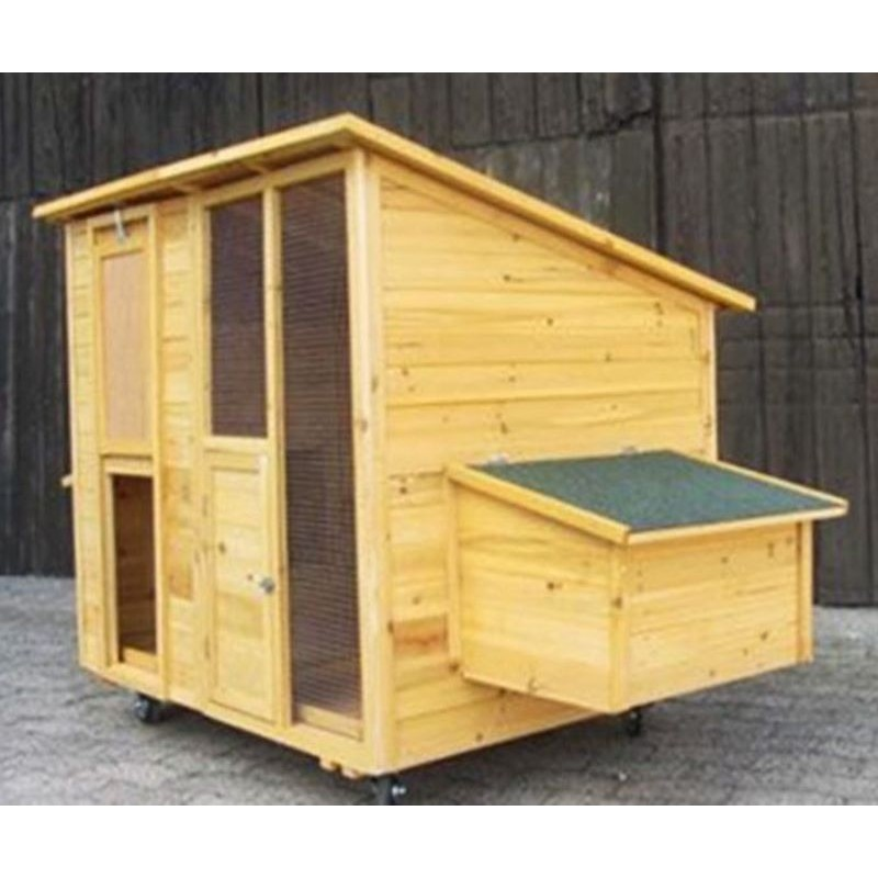 Pollaio mobile in legno per 10 galline ovaiole for Mobile esterno legno